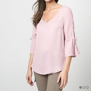 Satin Bell Sleeve Blouse